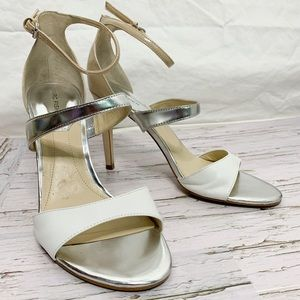 Marc Fisher / Neutral Strappy Heels